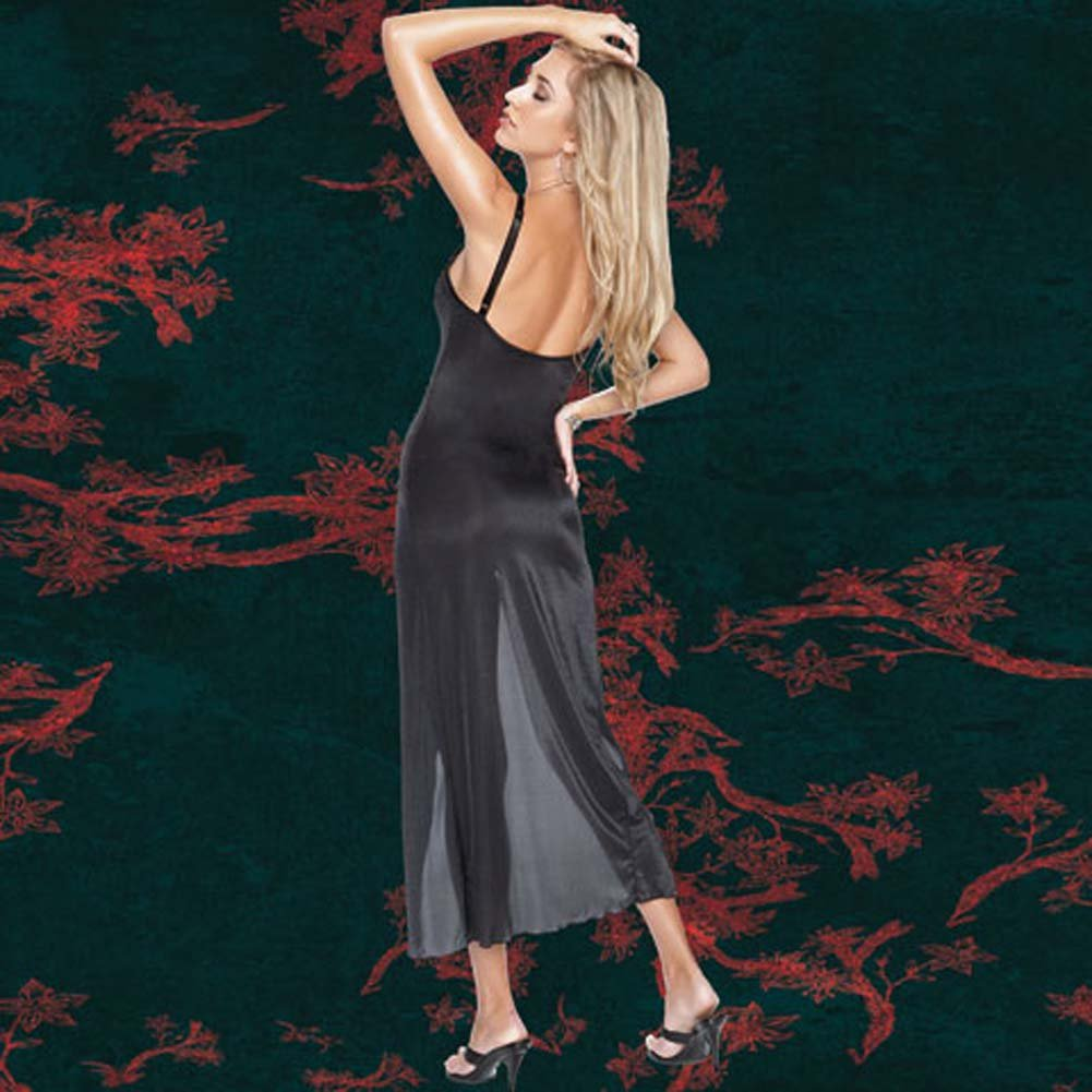 Sheer Stretch Lycra Gown with G-String Extra Large - View #1