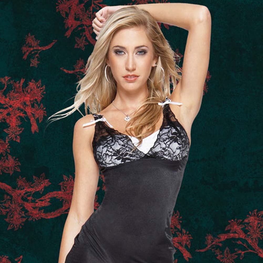 Sheer Stretch Lycra Gown with G-String Extra Large - View #3