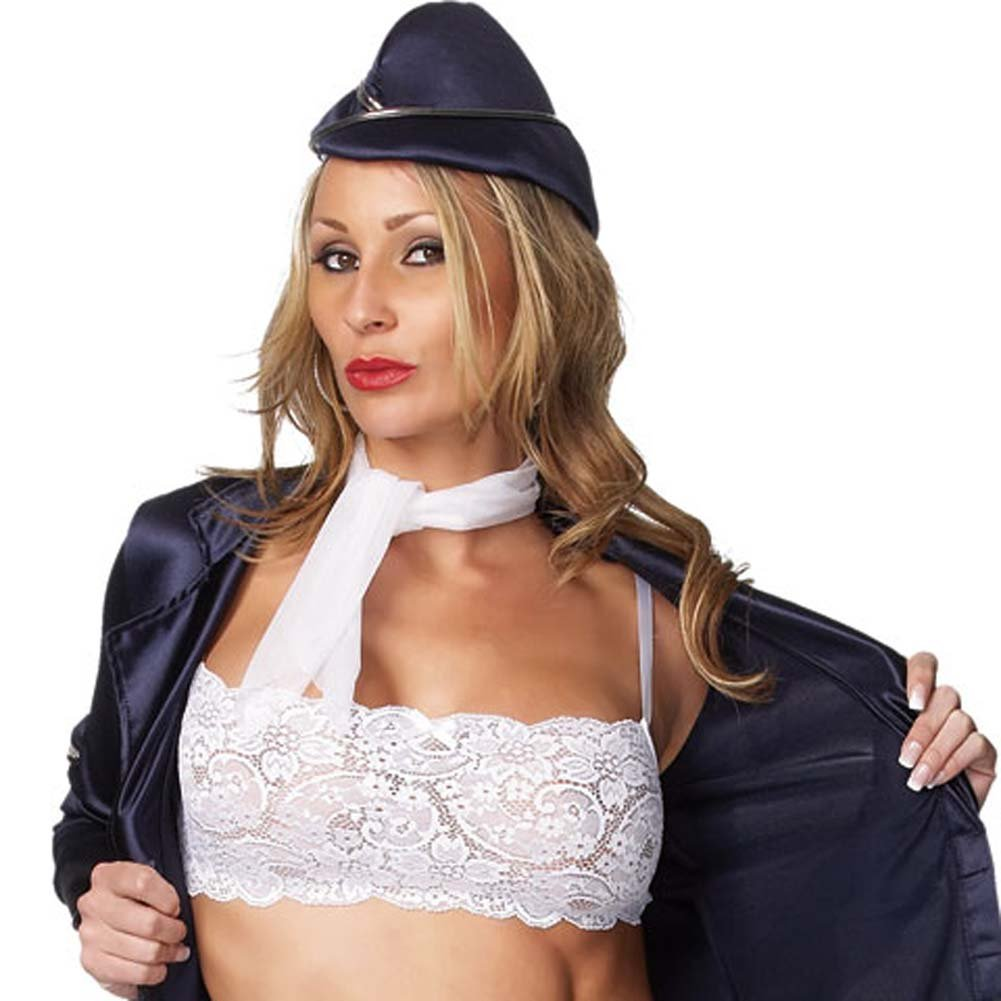 Flight Attendant 5 Piece Costume Medium/Large - View #4