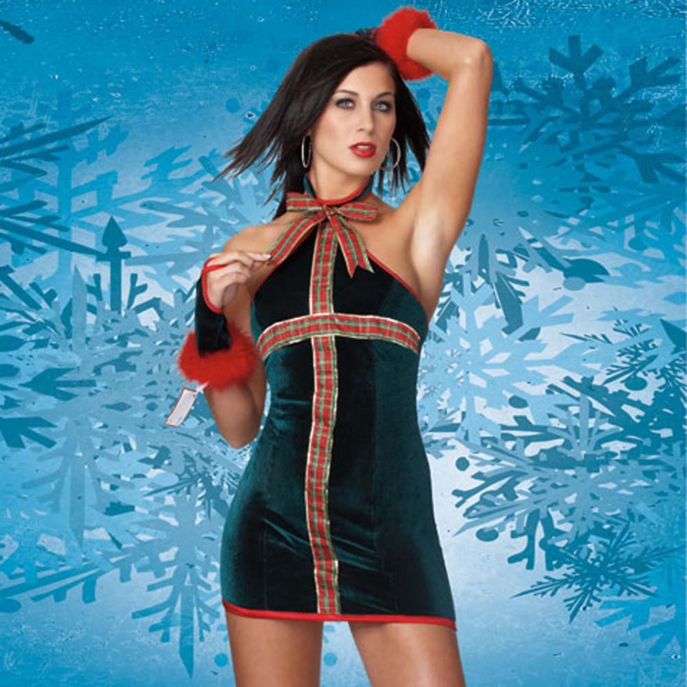 Coquette Lingerie Christmas Gift 5 Piece Costume Small/Medium - View #1