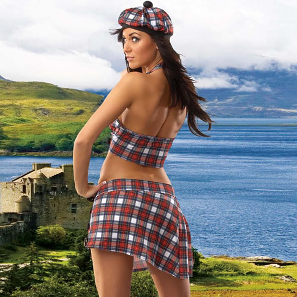 Scottish Girl 4 Piece Costume Medium/Large - View #2