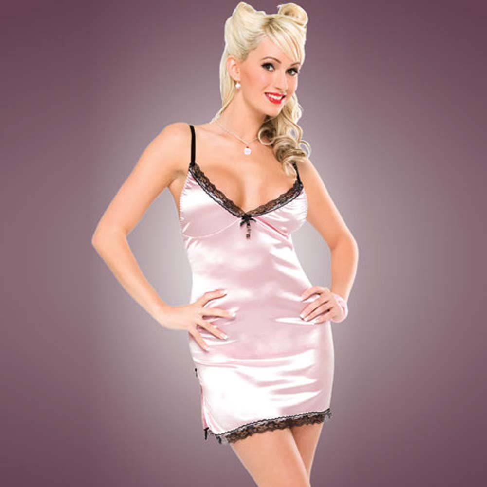 Penthouse Classy Side Slit Chemise Pink Medium - View #1