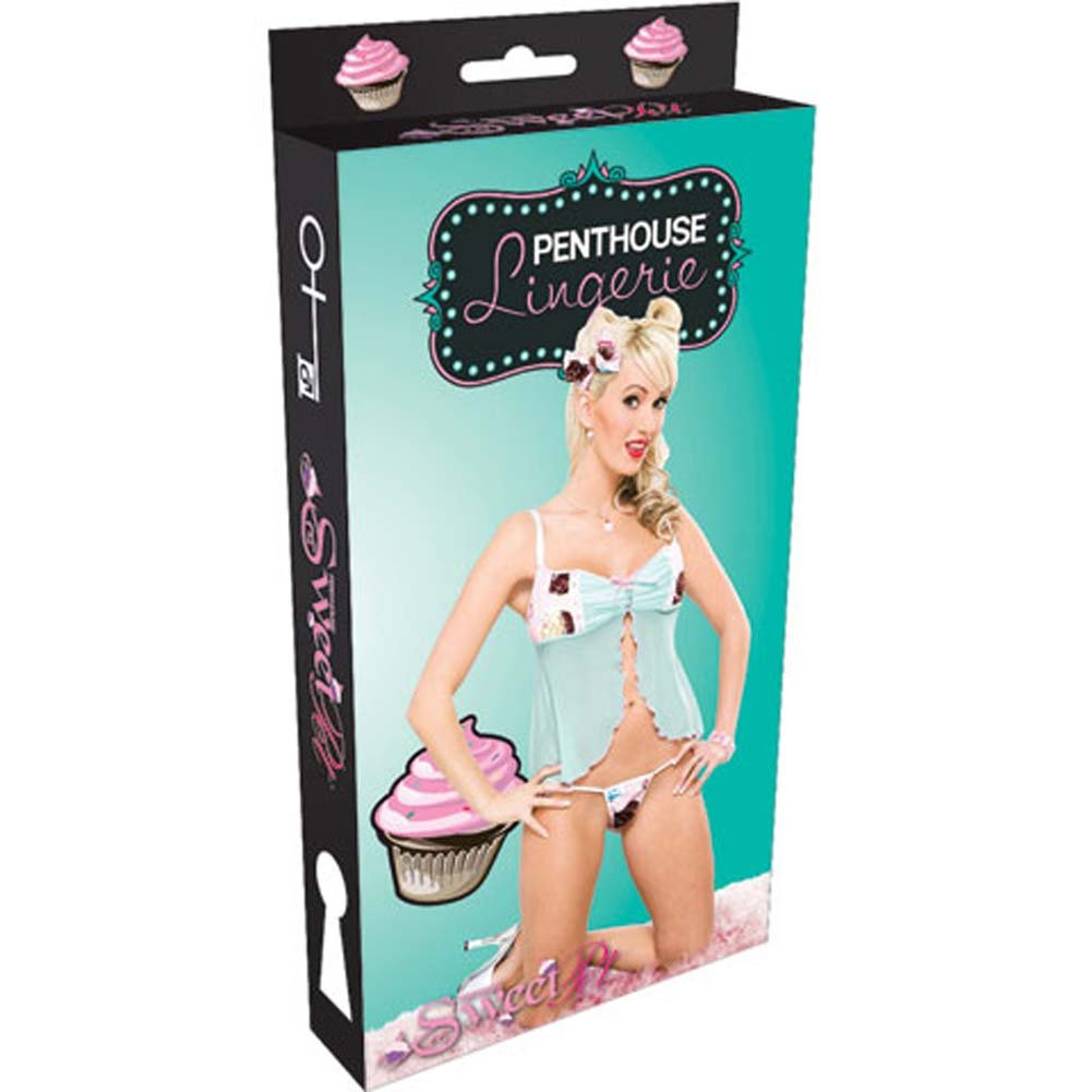 Penthouse Cupcake Cutie Babydoll and Panty Cupcake Print Lrg - View #4