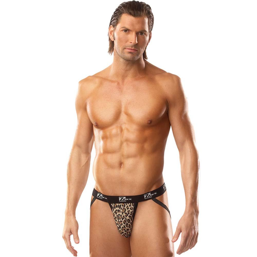 Lusty Leopard Jockstrap with Zakk Logo Waistband Large - View #3