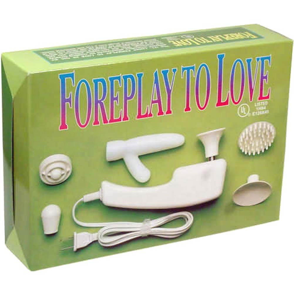 Foreplay to Love Electric Vibrating Kit with Six Attachments - View #1