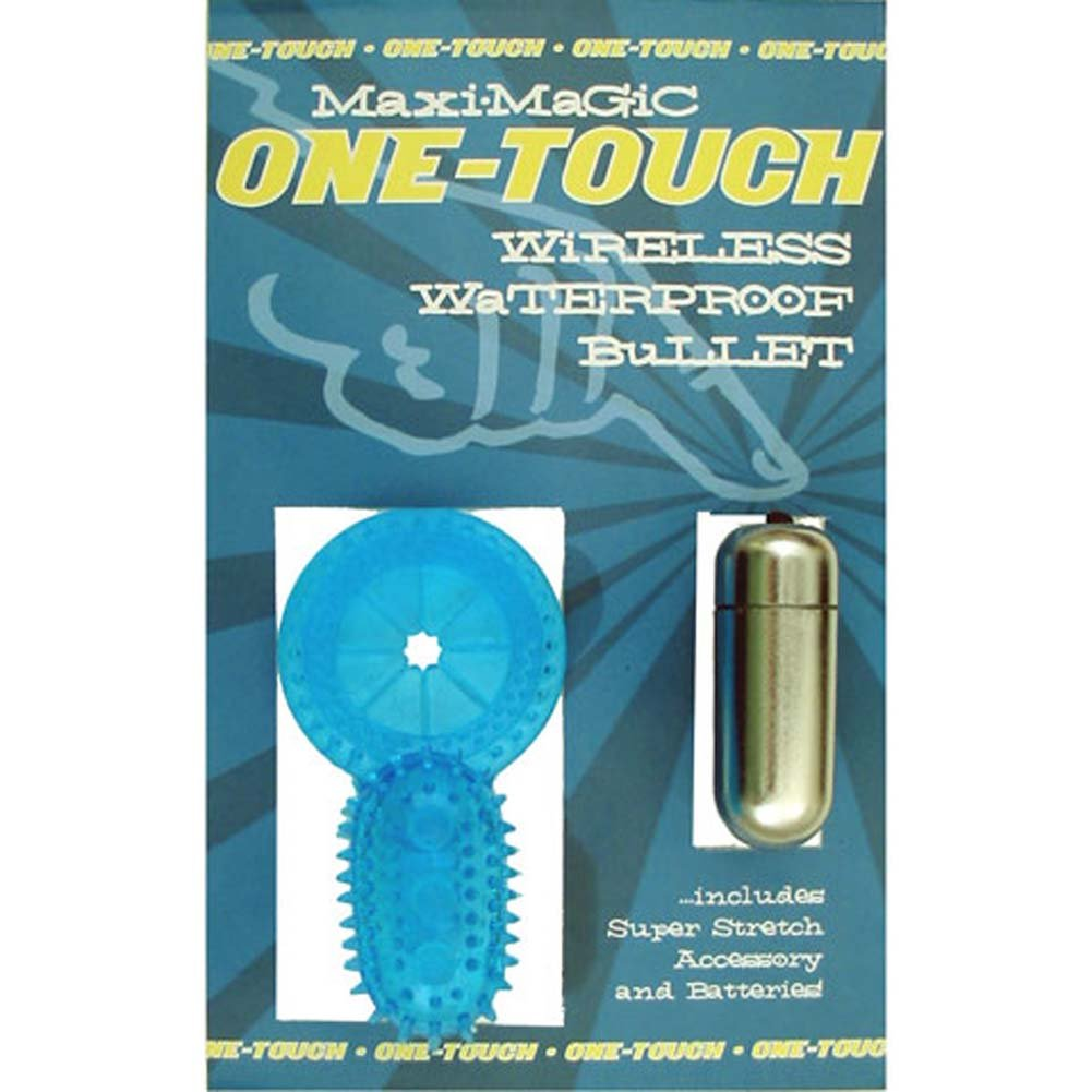 Waterproof One Touch Maxi Magic Vibrating Jelly Cockring - View #1