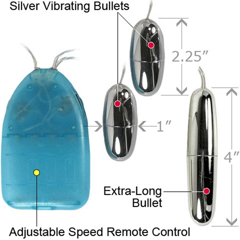 Dynamic Trio 3 Silver Bullets Multispeed Vibrator Kit - View #1