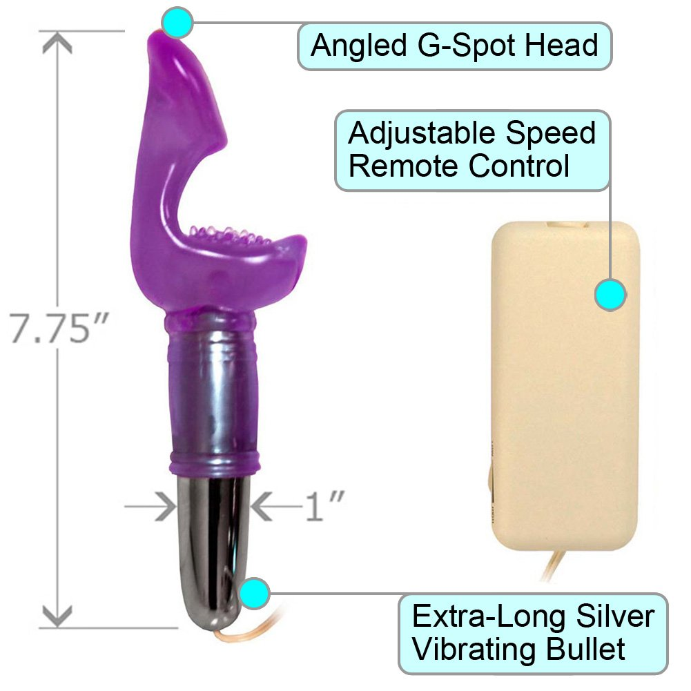 "OptiSex G Whizzer Female G-Spot Stimulation Vibe with Jelly Sleeve 7.75"" Lavender - View #1"