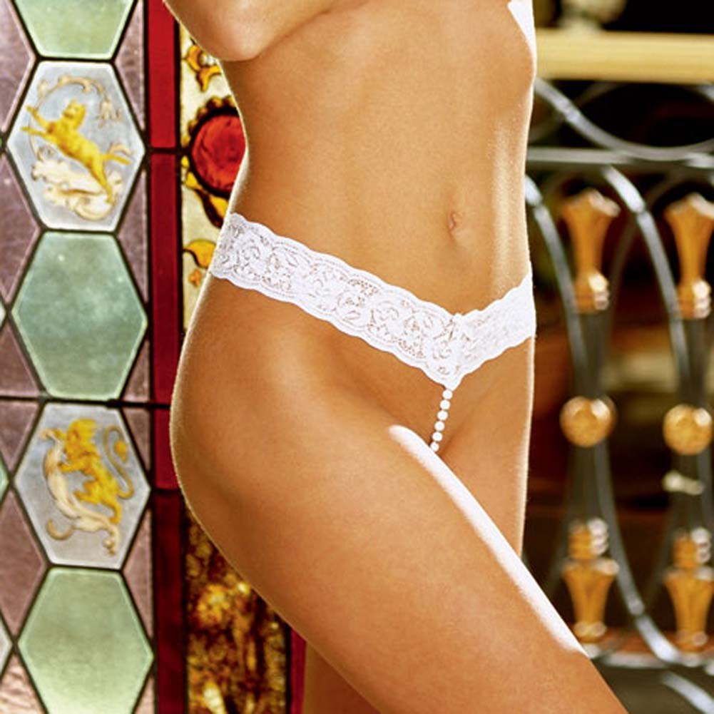 Pearl G-String Thong Style 1191 White - View #1