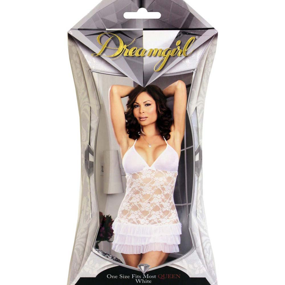 Ever After Chemise and Panty Set Plus Size White - View #4