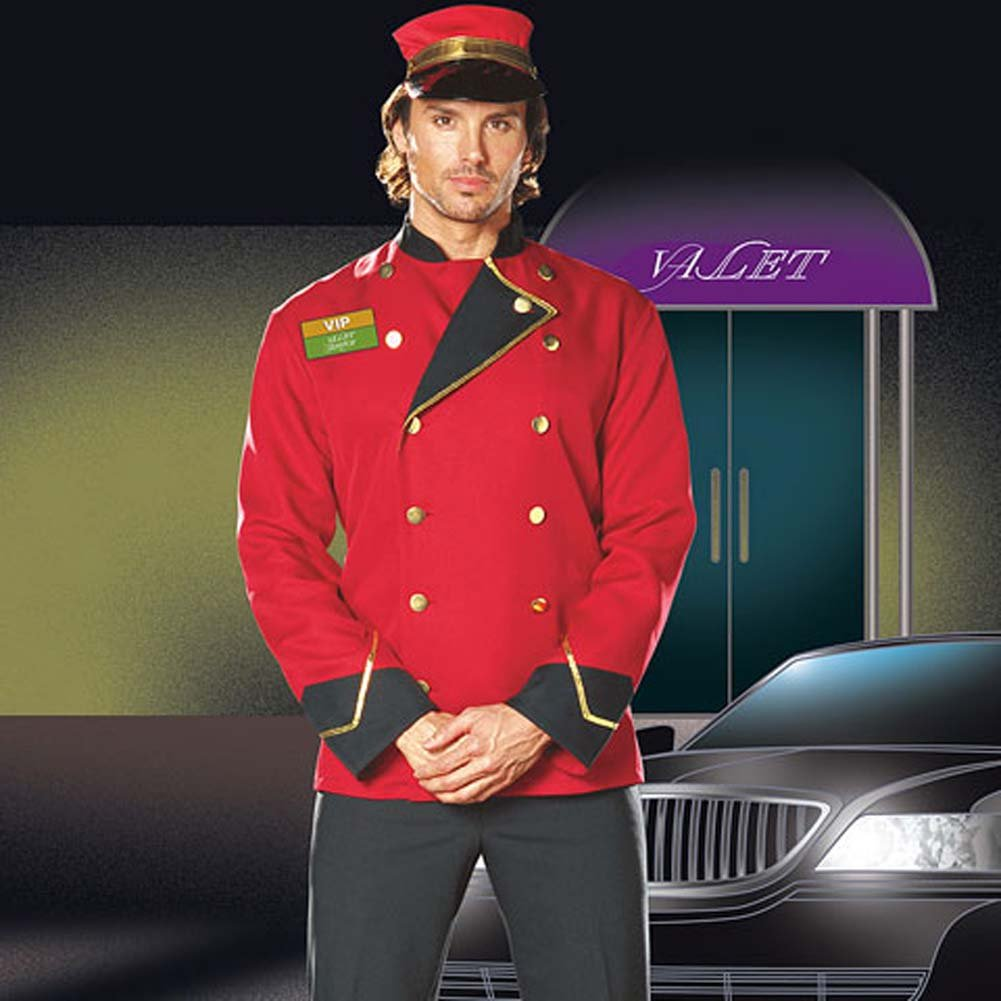 Mr. VIP Valet Male Costume Extra Large - View #1