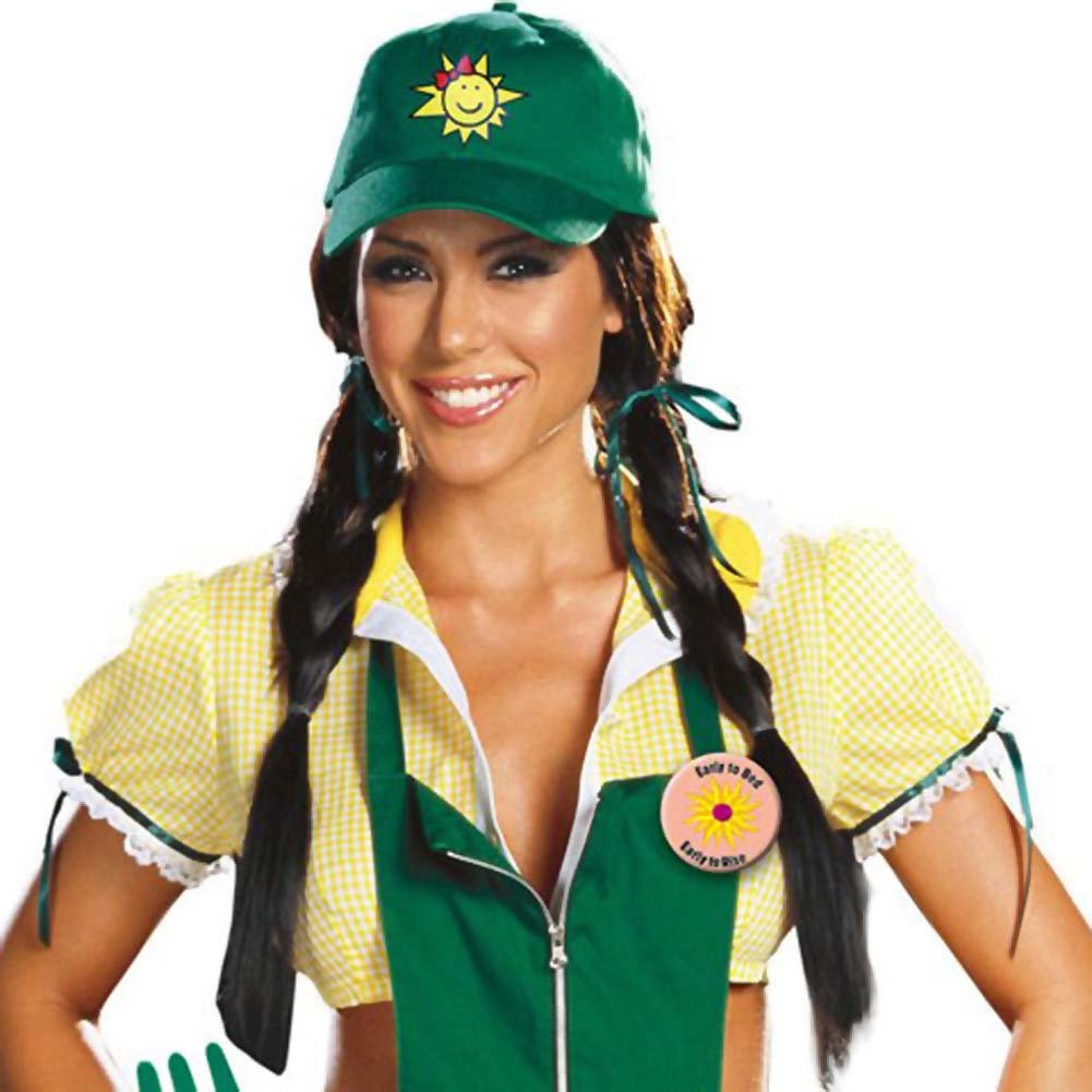 Garden Ho Farm Girl Sexy Halloween Costume Medium Green - View #2