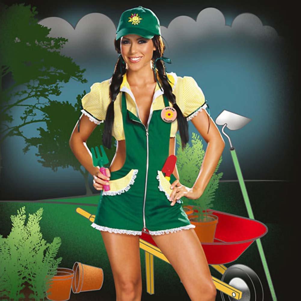Garden Ho Farm Girl Sexy Halloween Costume Medium Green - View #4