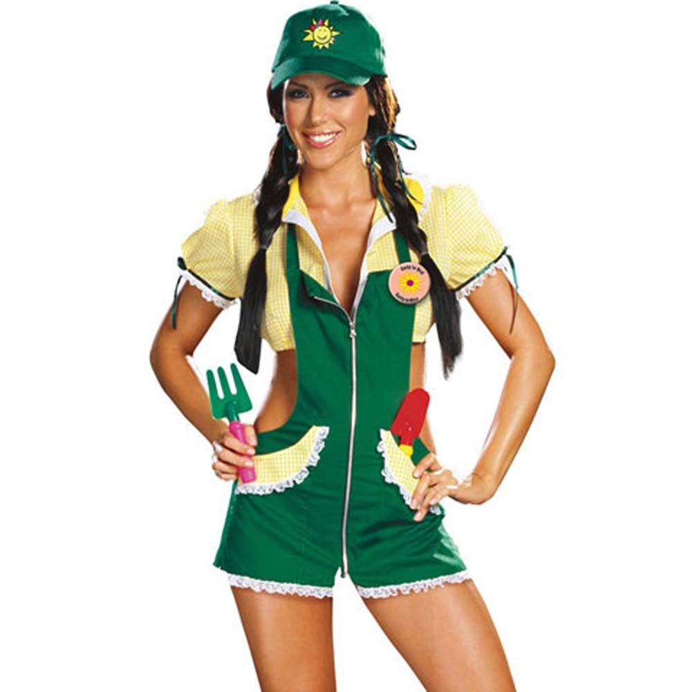 Garden Ho Farm Girl Sexy Halloween Costume Large Green - View #1