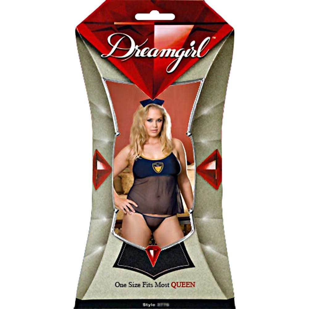 Do Not Stop Bedroom Cop Camisole Costume Set Plus Size Blue - View #4