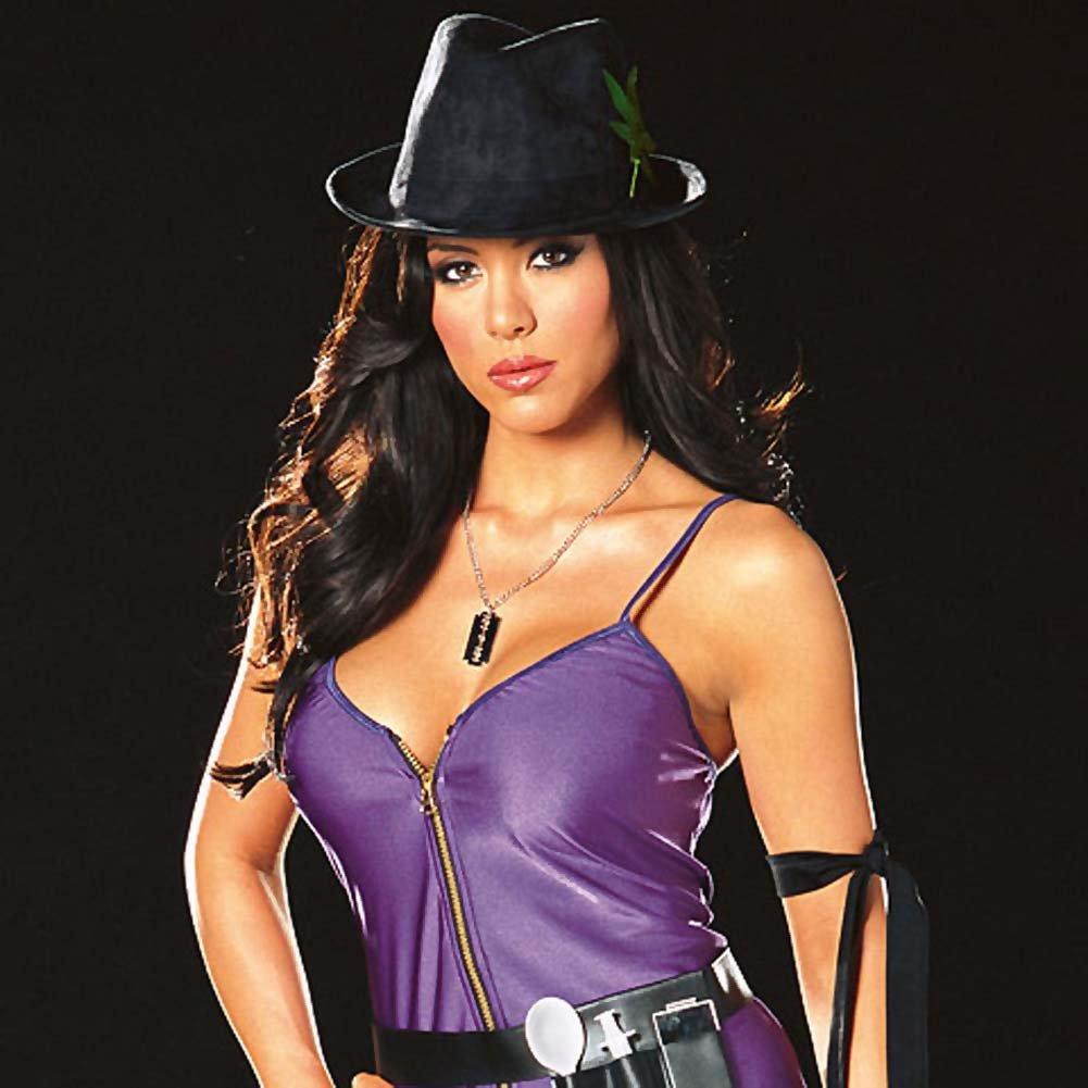 Diva Dealer Costume Medium Black and Purple - View #3