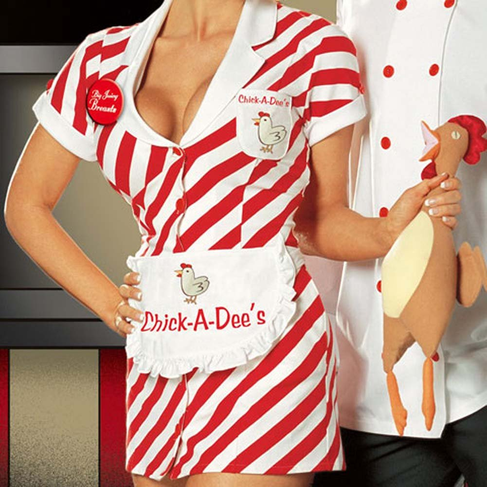 Chick A Dees Chicken Shack Costume Medium - View #3