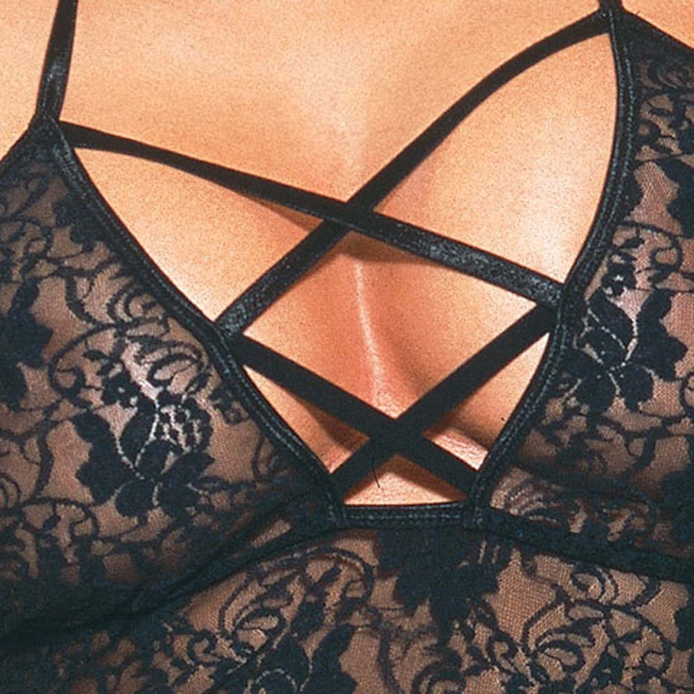 Babydoll with Thong Style 3691 Black/ - View #4
