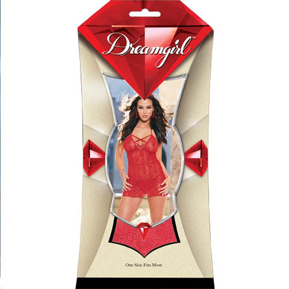 Babydoll with Thong Style/3691 Red - View #1
