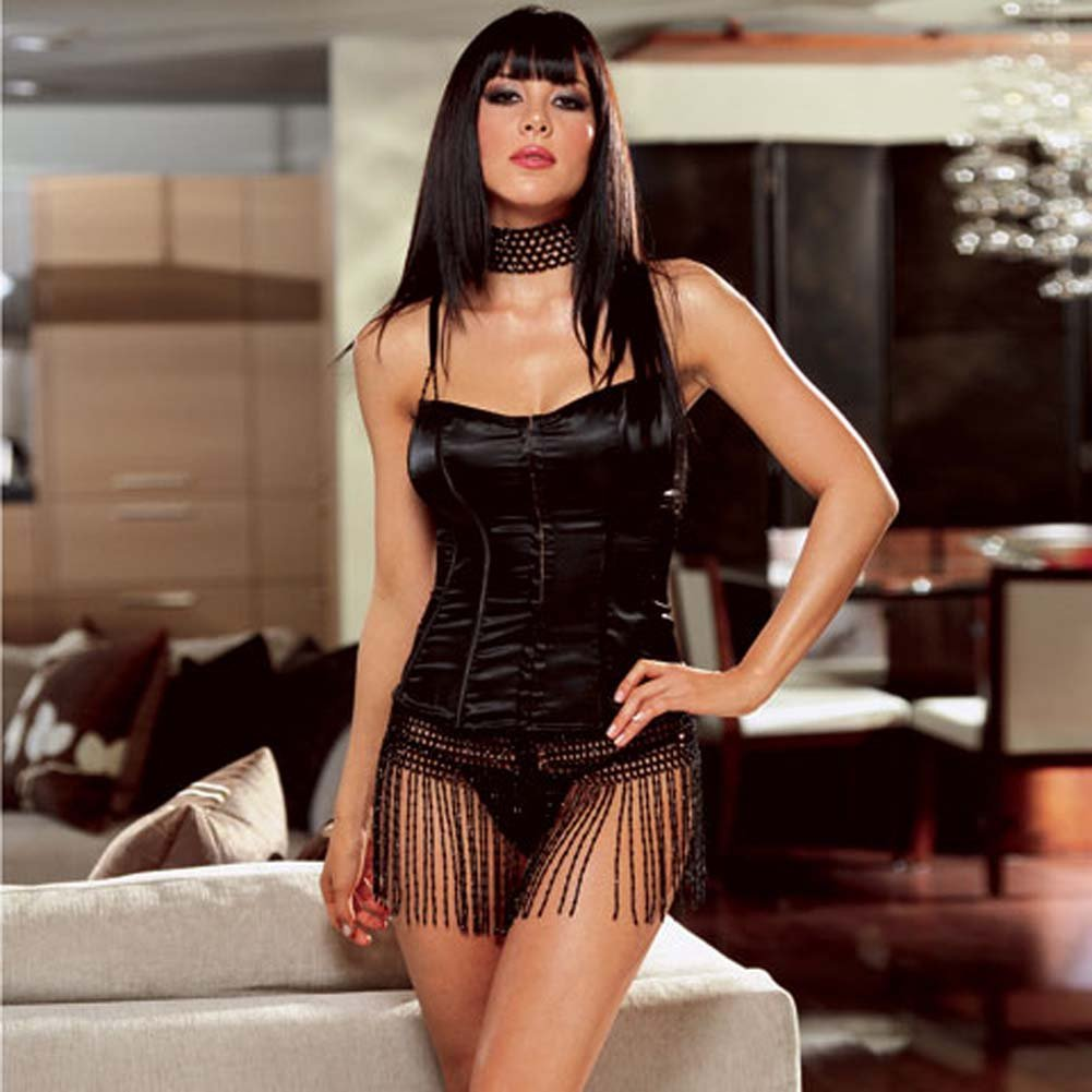 Delilah Corset and Beaded Skirt SEt Black Size 36 - View #1