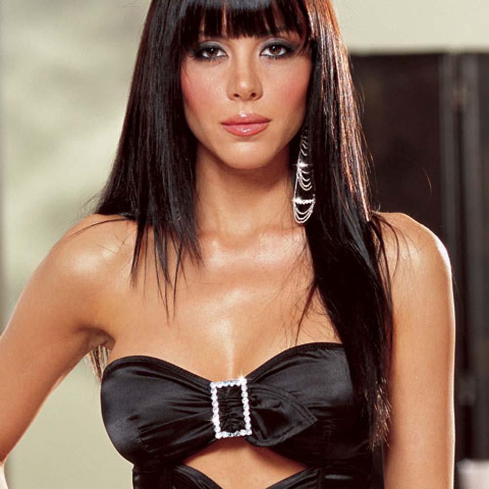 Alexis Rhinestone Buckle Corset Set Black Size 34 - View #2