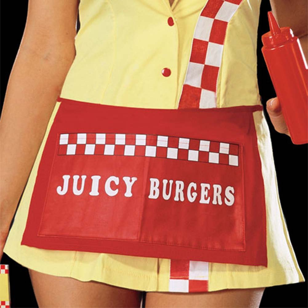 Juicy Burger Babe Costume Yellow Small - View #3