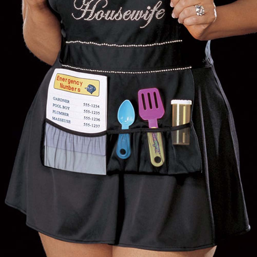 Deviant Housewife Costume Black Plus 3X/4X - View #3
