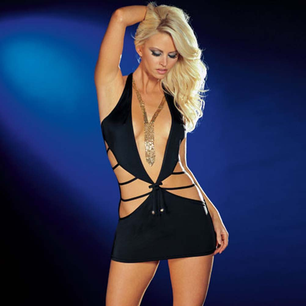 Shake It Dress with Thong Black Large - View #1