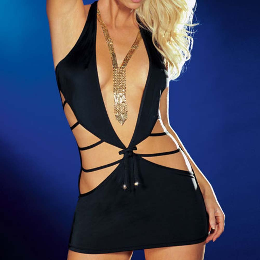 Shake It Dress with Thong Black Large - View #3