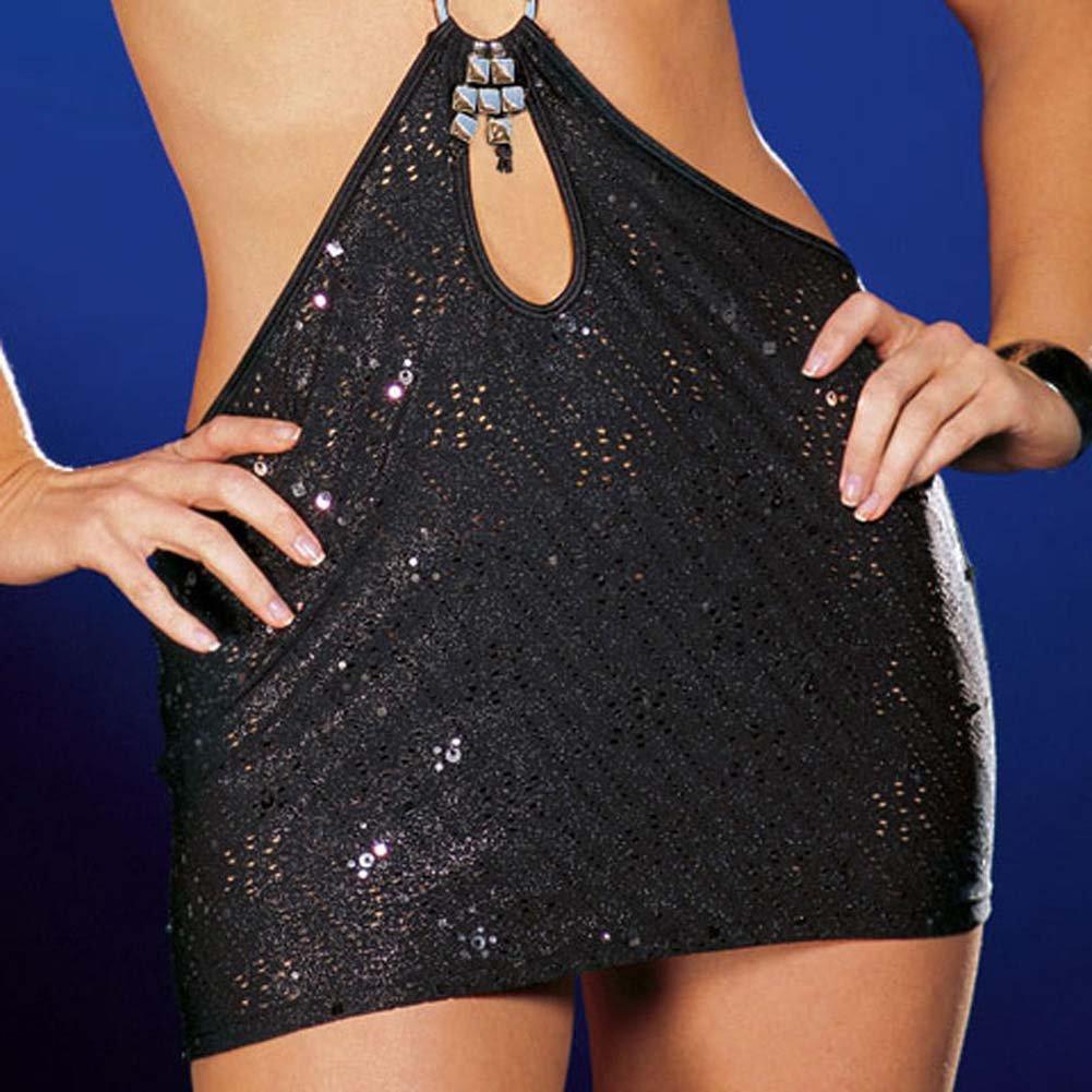 You Wish Dress with Thong Black Medium - View #4
