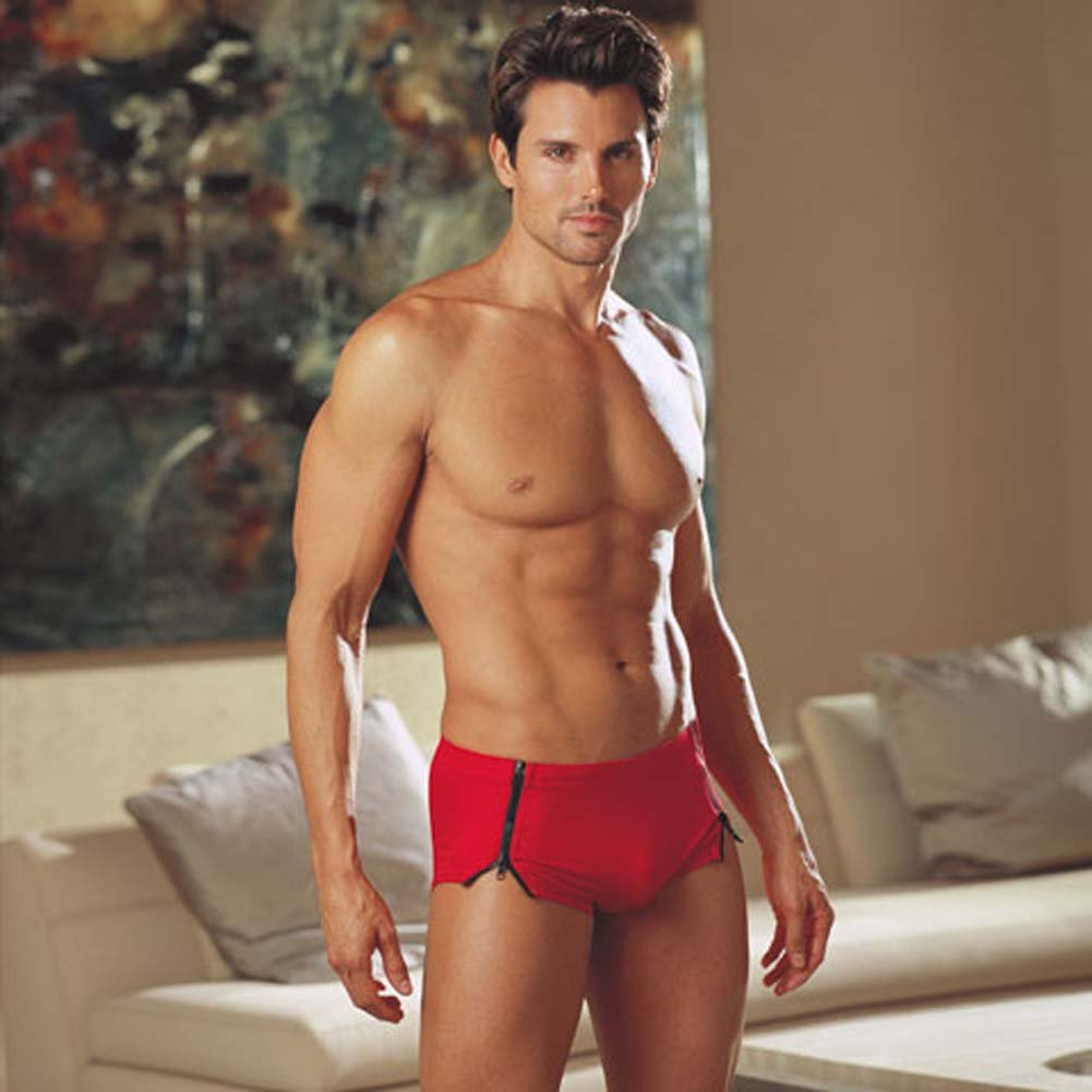 Primal Instincts Side Zipper Short Red Medium/Large - View #1