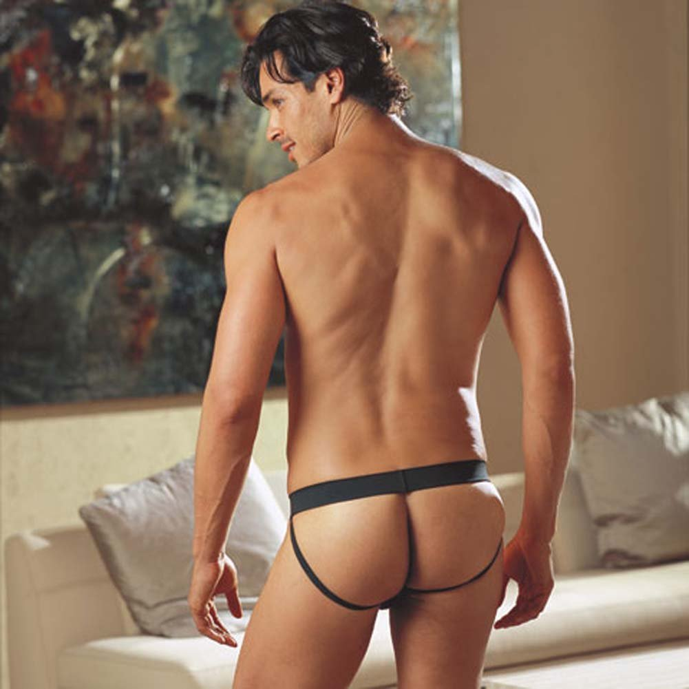 Studly Studded Jock Strap Black Medium/Large - View #2