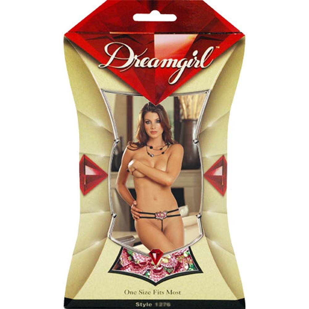 Geishas Delight Faux Pearl G-String - View #1