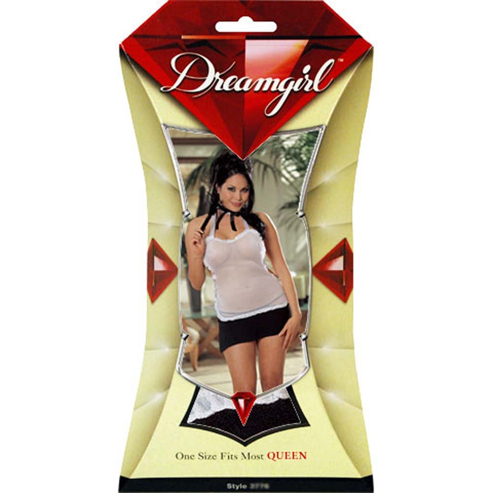 Ooh La La French Maid Costume with Accessories Plus Size - View #4