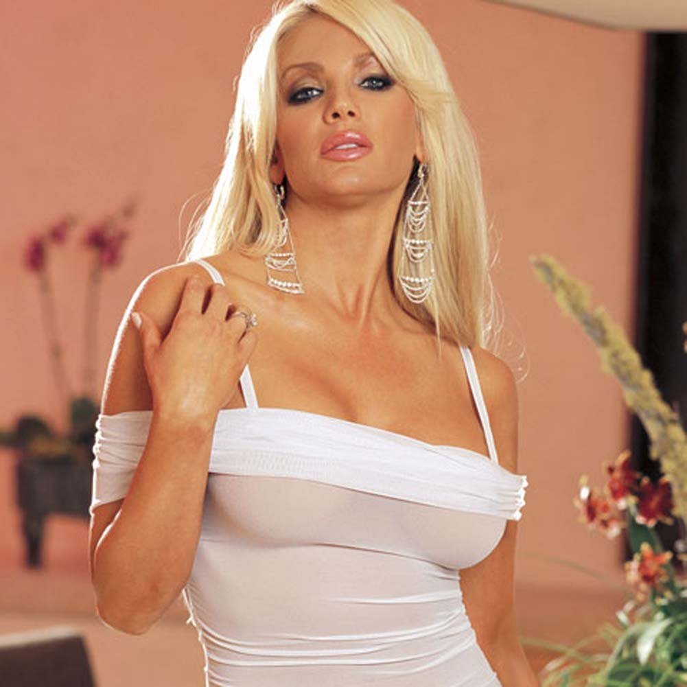 Wedded Bliss Mesh Babydoll White - View #4