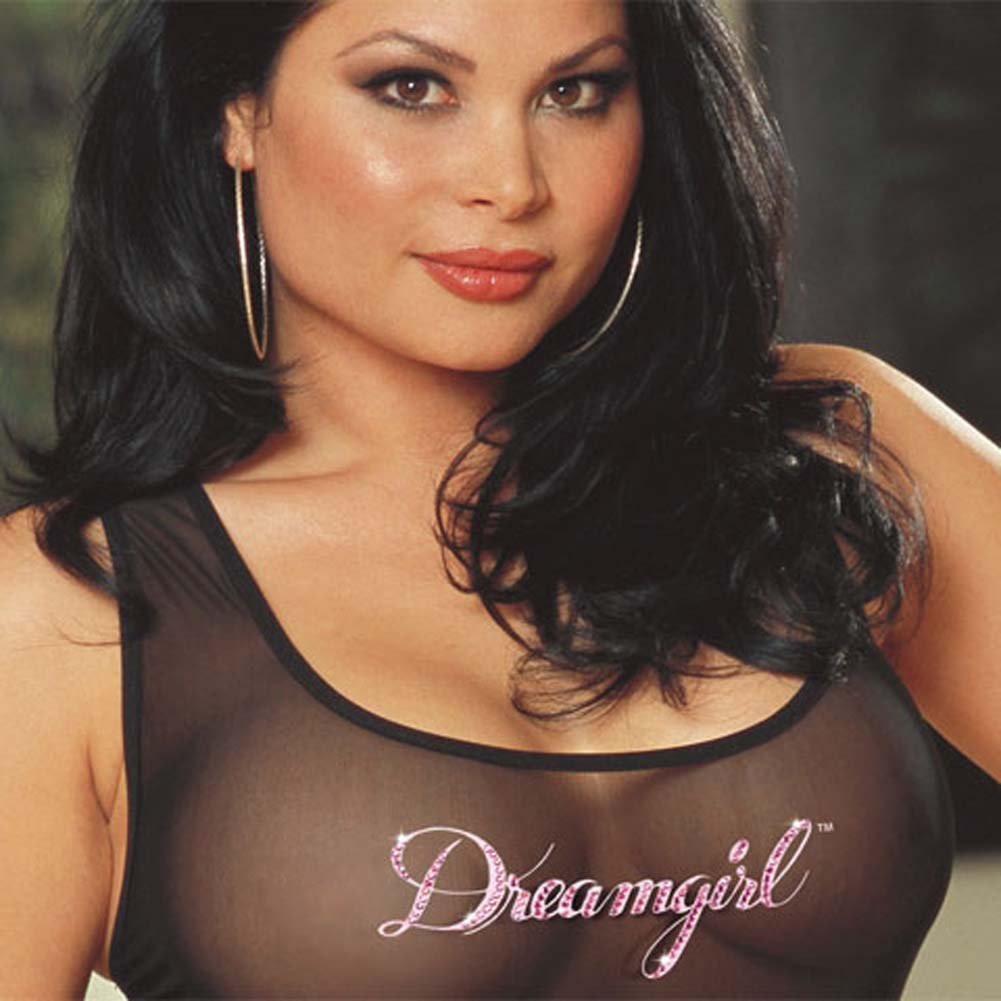 Dreamgirl Tank Dress and Thong Set Plus Size 3X/4X - View #3