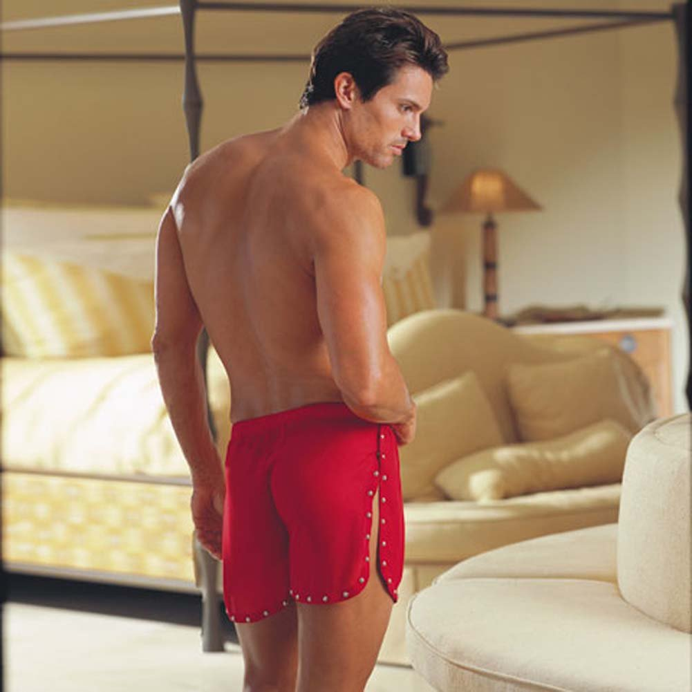 Tear Away Studded Trim Boxer Red Medium/Large5555 - View #2