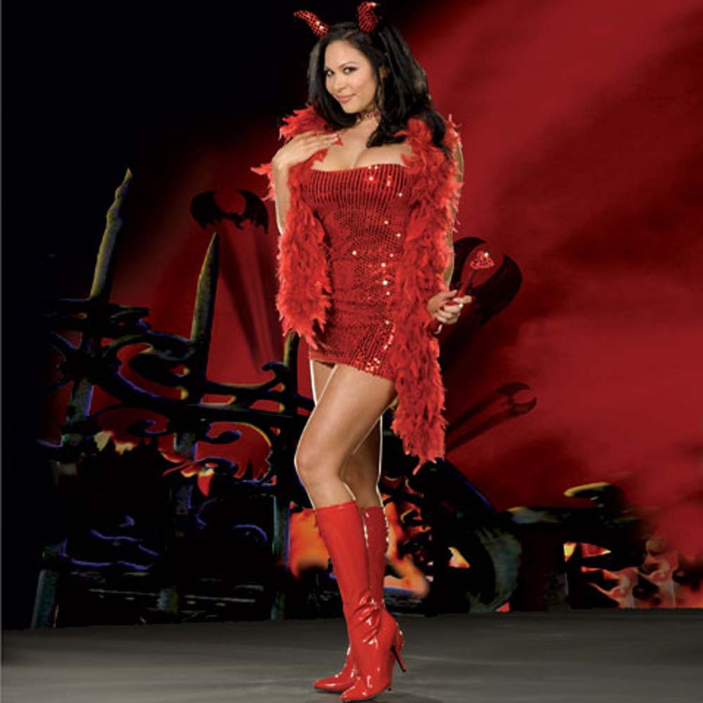 You Little Devil Red Costume Plus Size 1X/2X - View #1