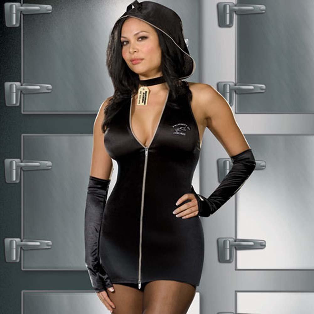 Jane Doe D.O.A. Costume Black Plus Size 1X/2X - View #2