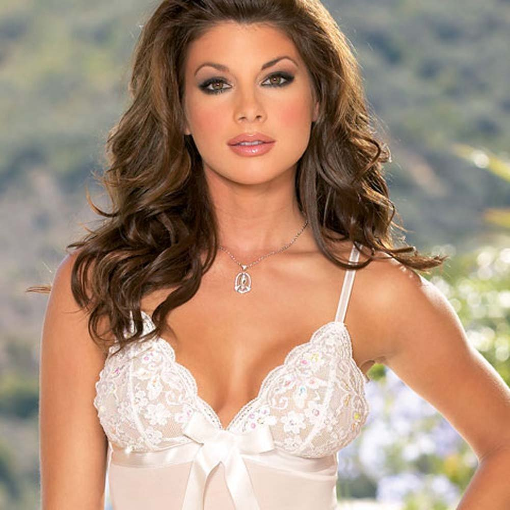 Dreamy Babydoll and Thong White Small - View #2