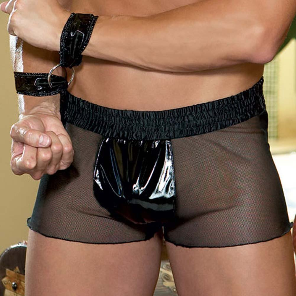 Captivity Two Tone Boxer with Matching Wrist Cuffs Med/Lrg - View #3