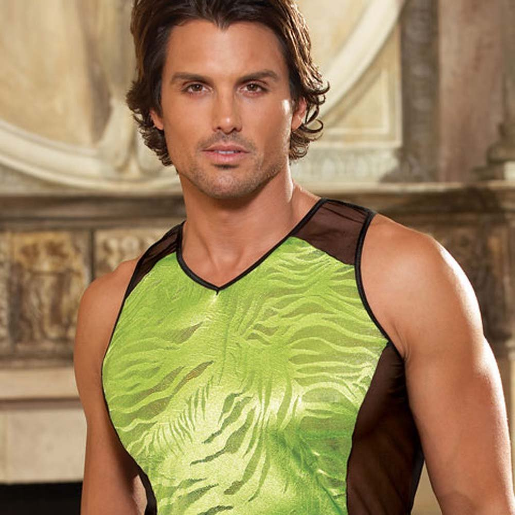 Bold Color Block Muscle Tank with Matching Jock Medium/Large - View #3