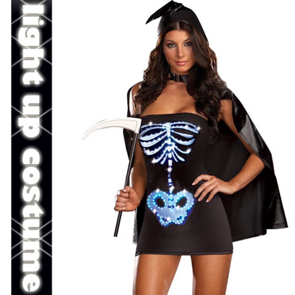 Dreamgirl Lingerie LIGHT UP Maya Remains Halloween Costume Small Black - View #1