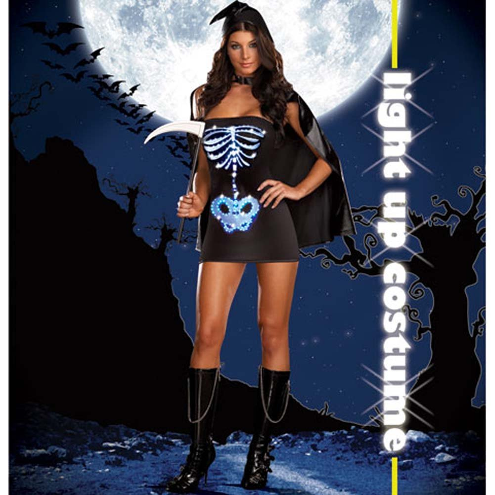 Dreamgirl Lingerie LIGHT UP Maya Remains Halloween Costume Medium Black - View #2