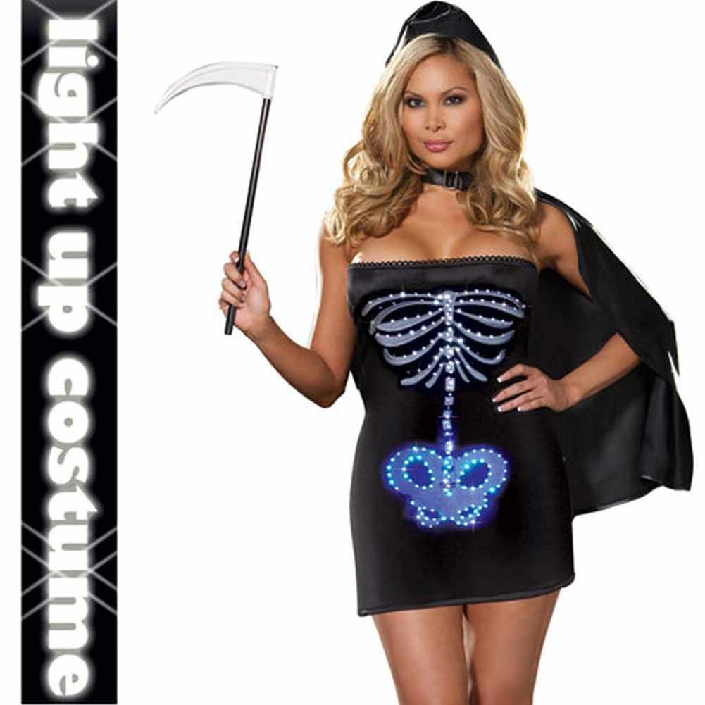 Dreamgirl Lingerie LIGHT UP Maya Remains Halloween Costume 1X/2X Plus Black - View #1