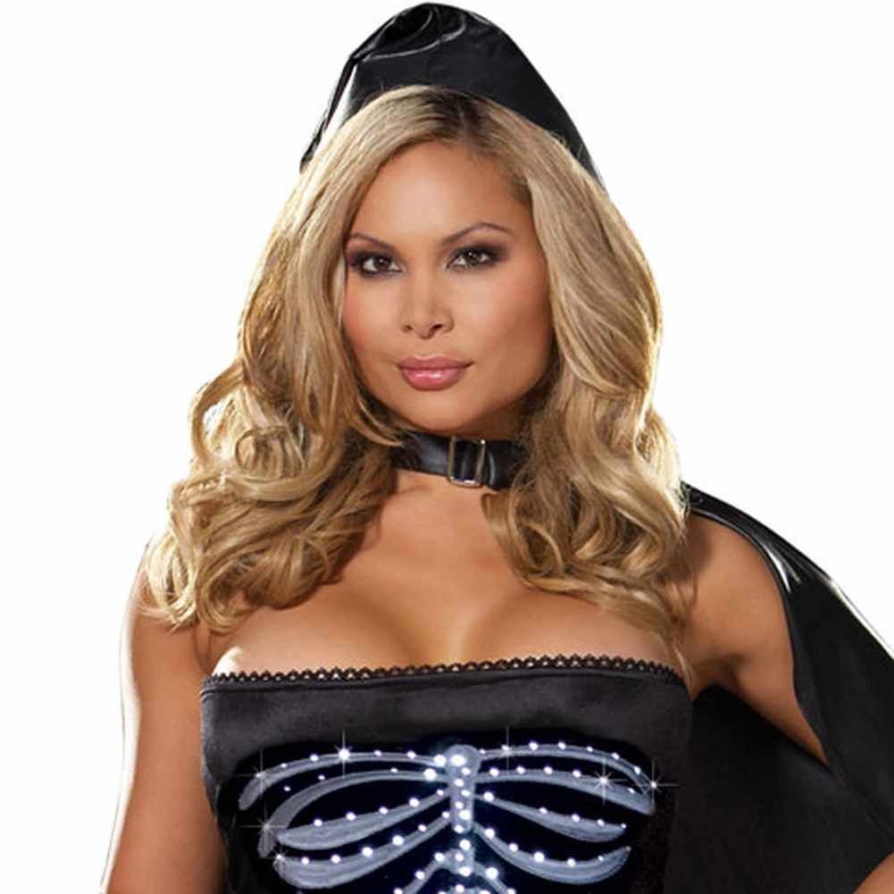Dreamgirl Lingerie LIGHT UP Maya Remains Halloween Costume 1X/2X Plus Black - View #3