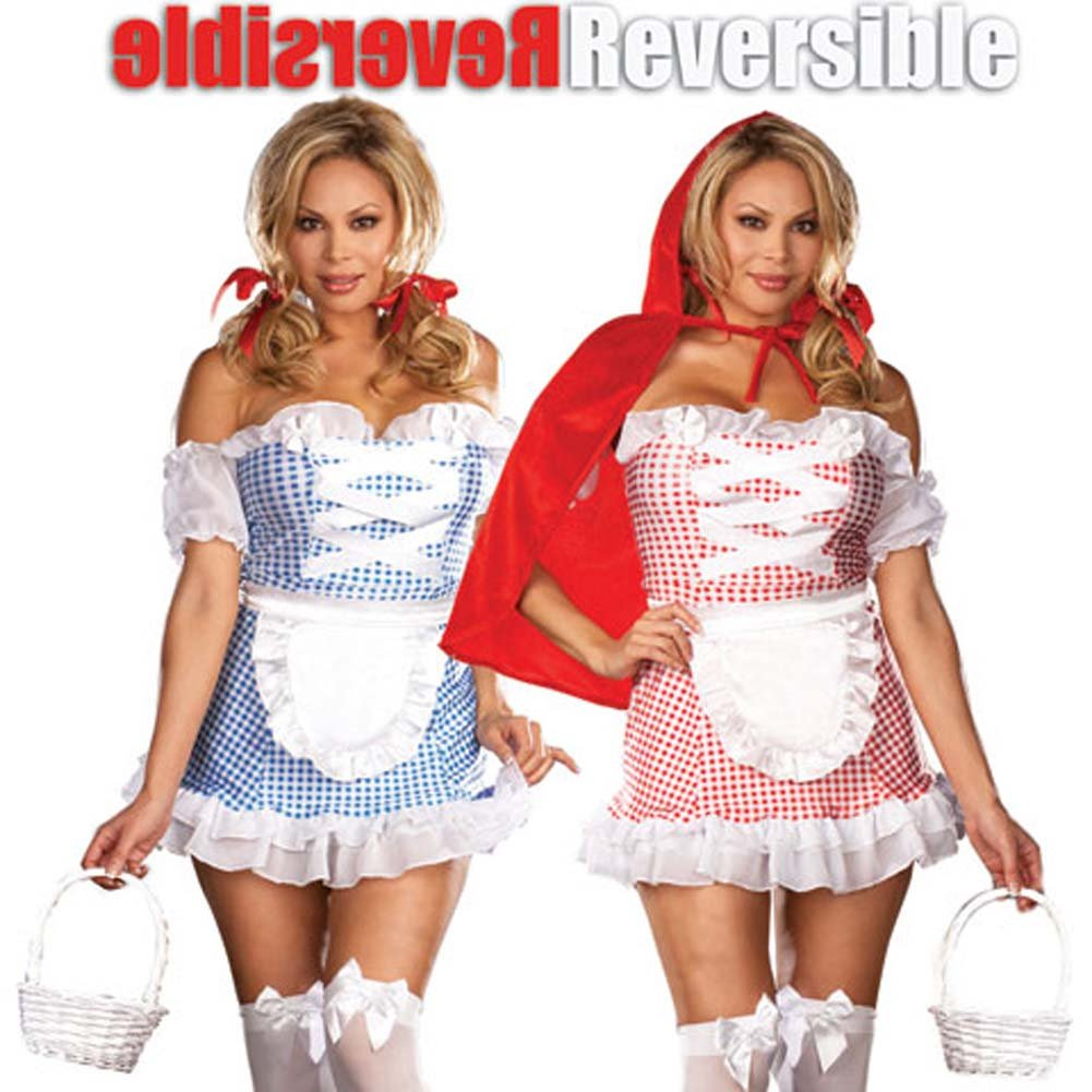 Fully Reversible Happily Ever After Costume Plus Size 1X/2X - View #1