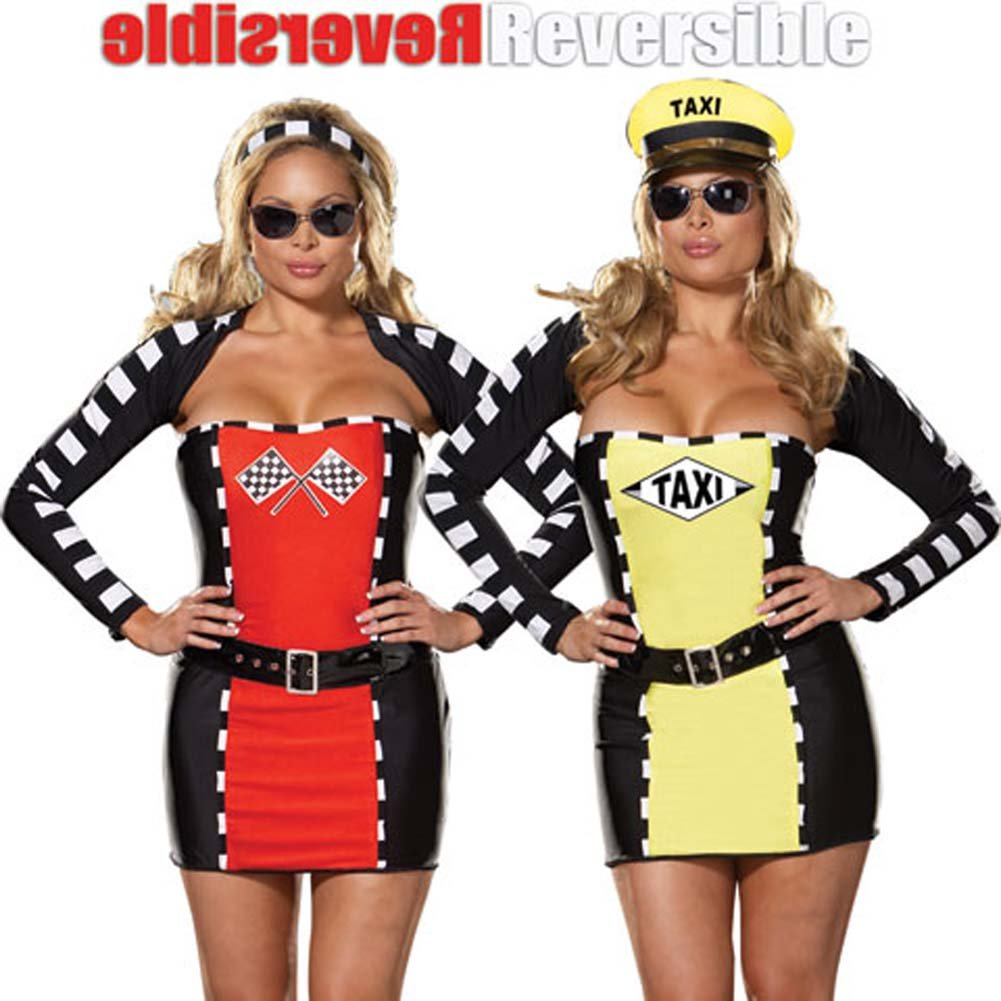 Fully Reversible Drive Me Crazy Costume Plus Size 3X/4X - View #1