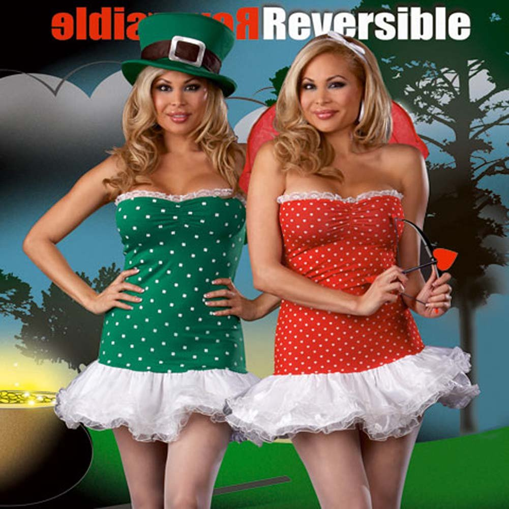 Fully Reversible Struck By Luck Costume Plus Size 3X/4X - View #1