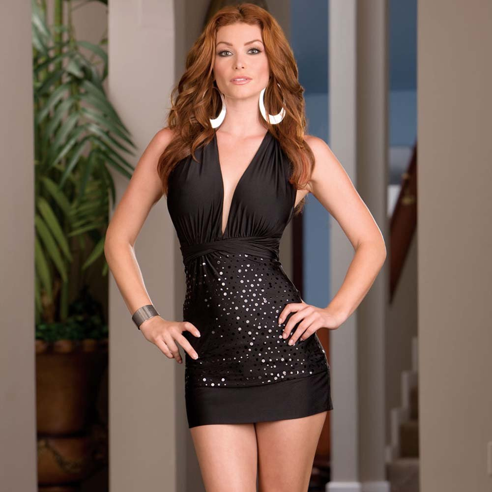Versatile Dress with Thong and Styling Instructions Black - View #1